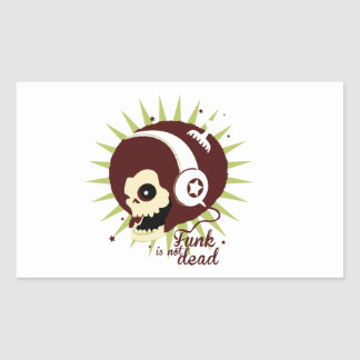 Funk not dead rectangular sticker