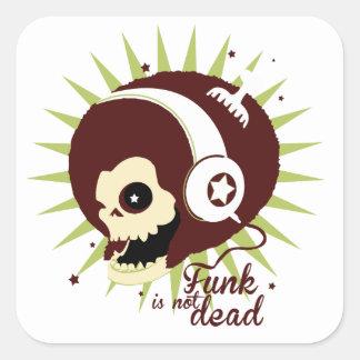 Funk not dead square sticker