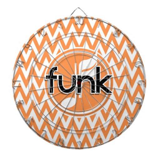 Funk; Orange and White Chevron Dartboard