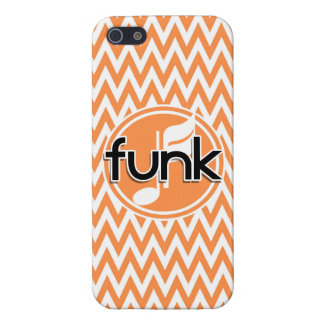 Funk Orange and White Chevron iPhone 5 Covers