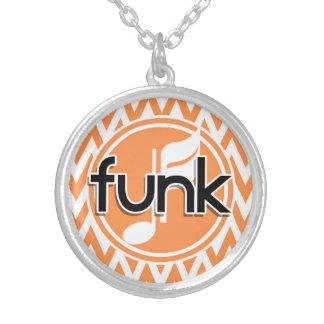 Funk Orange and White Chevron Pendants