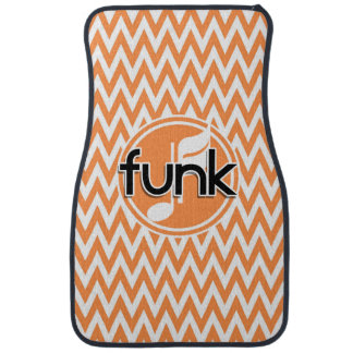 Funk Orange and White Chevron Floor Mat
