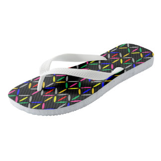 funk retro bold on black flip flop