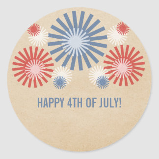 Funky 4th of July Fireworks Stickers