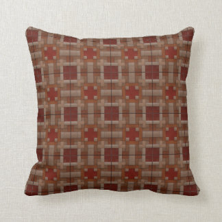 Funky Abstract Brown Throw Cushion