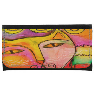 Funky Abstract Cat Wallet
