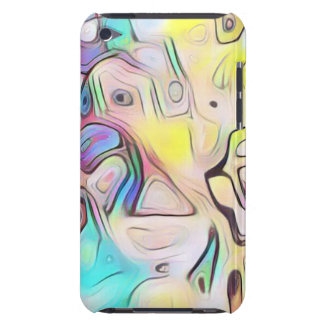 Funky abstract psychedelic iPod touch cases