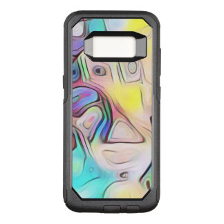 Funky abstract psychedelic OtterBox commuter samsung galaxy s8 case