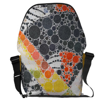 Funky Abstract Texture Courier Bag