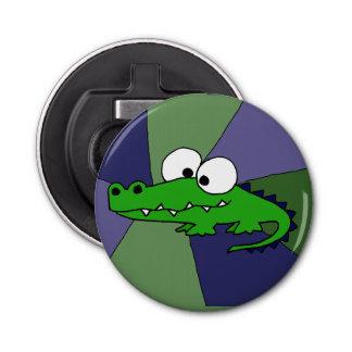 Funky Alligator Button Bottle Opener