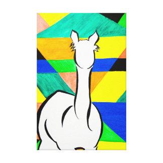 Funky Alpaca on Canvas