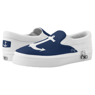 Funky Anchor Captain Slip On Shoes