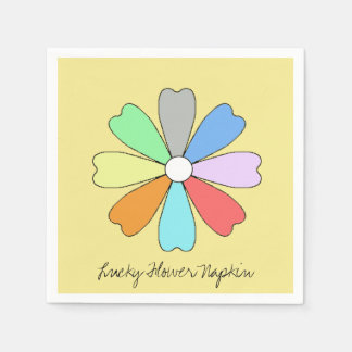 Funky and Cute Lucky Flower Paper Napkin