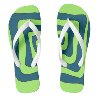 Funky and festive Aztec mens flip flops