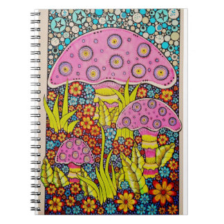 funky and fun in the garden spiral note book