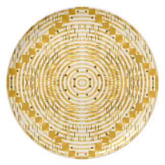 Funky and golden dinner plate