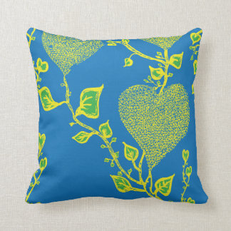 Funky and wild hearts cushion with vibrant colours