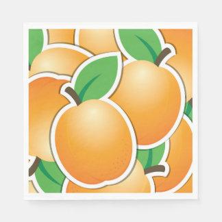Funky apricot paper serviettes