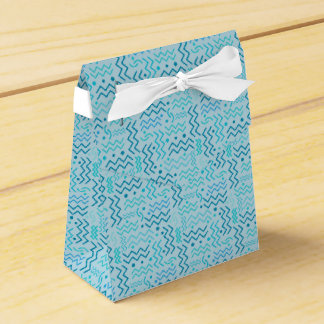Funky Aqua Memphis Design Favour Box