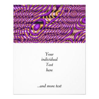 Funky Art purple (C) 11.5 Cm X 14 Cm Flyer