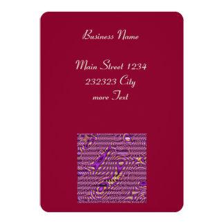 Funky Art purple (C) 5x7 Paper Invitation Card