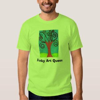Funky Art Queen,  Tee Shirt