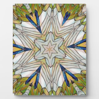 Funky Artistic Star in Daisy Shaped Abstract Plaque