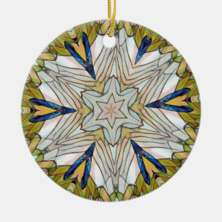 Funky Artistic Star in Daisy Shaped Abstract Round Ceramic Decoration