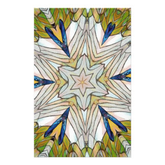 Funky Artistic Star in Daisy Shaped Abstract Stationery