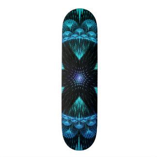 Funky Awesome Decorative Flower Star Burst Fractal Skate Board