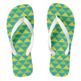 Funky Aztec Design - Green Thongs