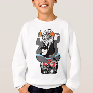 Funky Bald Eagle Sweatshirt