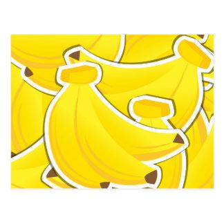 Funky banana postcard