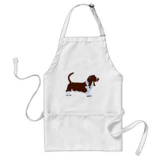 Funky Basset Hound Pop Art Dog Standard Apron