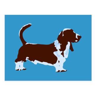 Funky Basset Hound Pop Art Dog Postcard