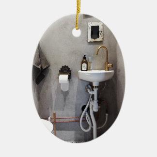 Funky Bathroom Ceramic Oval Decoration