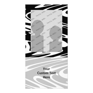 Funky Black and White Pattern. Picture Card