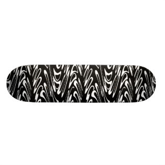 Funky Black and White Pattern Skate Deck