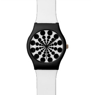 Funky black circles watches