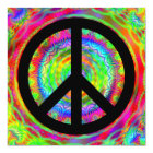 Funky Black Peace Sign Card