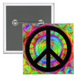 Funky Black Peace Sign Pins