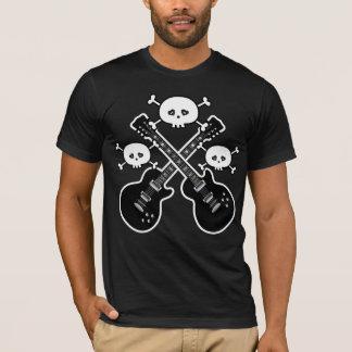 Funky Black & White Guitars & Skulls T-Shirt
