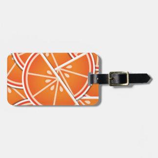 Funky blood orange wedges bag tag