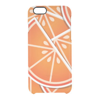 Funky blood orange wedges clear iPhone 6/6S case