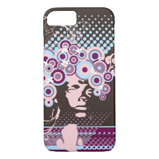 Funky Bloom Hair Floral Mod Circles Retro Abstract iPhone 7 Case