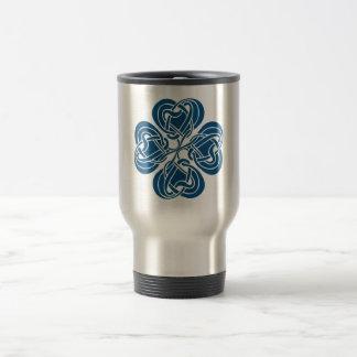 Funky Blue Celtic Knot Mugs
