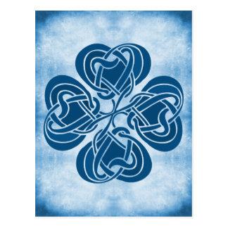 Funky Blue Celtic Knot Postcards