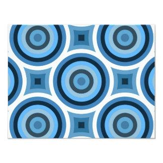 Funky Blue Circles Pattern Card