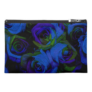 Funky Blue Roses Travel Accessory Bag