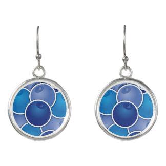 Funky blueberry earrings